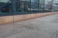 NOVA YORK, EUA, 23.03.2020 - CORONAVIRUS-EUA - Vista do Centro de Convenções Jacob Javits Center onde é montado em um hospital de campo para tratamento de coronavírus Covid19 em Nova York, ou o estado que causou epicentro da pandemia nos Estados Unidos. (Foto: Vanessa Carvalho/Brazil Photo Press)