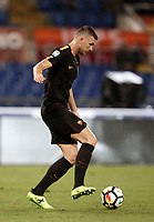 Calcio, Serie A: Roma, stadio Olimpico, 16 settembre 2017.<br /> Roma's Edin Dzeko in action during the Italian Serie A football match between AS Roma and Hellas Verona at Rome's Olympic stadium, September 16, 2017.<br /> UPDATE IMAGES PRESS/Isabella Bonotto