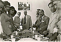Iraq 1951?.In Suleimania, lunch in the house of Aref Effendi, 2nd left sheikhHussein Abeln Kerim and in the center Tawfiq Wahbi