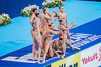 Team Spain ESP<br /> Synchro Women's Team Free Final Free Routine - Kazan Arena<br /> Day08 31/07/2015<br /> XVI FINA World Championships Aquatics Swimming<br /> Kazan Tatarstan RUS July 24 - Aug. 9 2015 <br /> Photo A.Masini/Deepbluemedia/Insidefoto