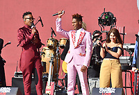 NEW YORK, NY- SEPTEMBER 25: Billy Porter, Jon Batiste and Alessia Cara at the 2021 Global Citizen Live Festival at the Great Lawn in Central Park, New York City on September 25, 2021. Credit: John Palmer/MediaPunch