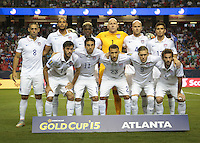 Atlanta, Georgia - Wednesday, July 22, 2015: The USMNT go up against Jamaica in Semifinal play in the 2015 Gold Cup at the Georgia Dome.
