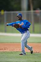 GCL Mets first baseman Luis Montero (69) during practice before a game against the GCL Cardinals on July 23, 2017 at Roger Dean Stadium Complex in Jupiter, Florida.  GCL Cardinals defeated the GCL Mets 5-3.  (Mike Janes/Four Seam Images)