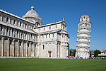 Italy, Tuscany, Pisa: The Leaning Tower of Pisa and Duomo | Italien, Toskana, Pisa: Dom und der Schiefe Turm von Pisa