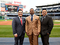 WASHINGTON DC - OCTOBER 25: Fox Deportes broadcasters at World Series Game 3: Houston Astros at Washington Nationals on Fox Sports at Nationals Park on October 25, 2019 in Washington, DC. (Photo by Frank Micelotta/Fox Sports/PictureGroup)