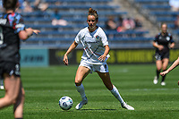 BRIDGEVIEW, IL - JUNE 5: Havana Solaun #19 of the North Carolina Courage dribbles the ball during a game between North Carolina Courage and Chicago Red Stars at SeatGeek Stadium on June 5, 2021 in Bridgeview, Illinois.
