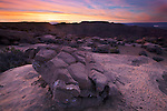 Sunrise atop the Kelly Grade Overlook in the Grand Staircase-Escalante National Monument, Utah, USA