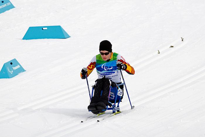 Sébastien Fortier, Vancouver 2010 - Para Nordic Skiing // Ski paranordique.<br /> Sébastien Fortier competes in Para Nordic Skiing // Sébastien Fortier participe en ski paranordique. 14/03/2010.