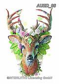Carlie, REALISTIC ANIMALS, REALISTISCHE TIERE, ANIMALES REALISTICOS, paintings+++++Deer-Spirit-Animal,AUED06,#A#, EVERYDAY ,deer,deers ,fantasy
