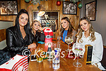 Katie O'Sullivan, Aine Masterson, Seona O'Healy and Kellie O'Connor enjoying the evening in the Fiddler on Saturday.