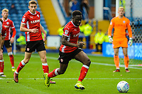 Barnsley's defender Andy Yiadom (17) clears during the Sky Bet Championship match between Sheff Wednesday and Barnsley at Hillsborough, Sheffield, England on 28 October 2017. Photo by Stephen Buckley / PRiME Media Images.