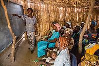 Adult Literacy Class, Santhiou Mboutou Village, Senegal.  An Africare Program.