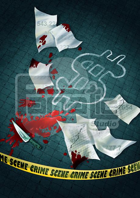 Illustrative representation of business crime