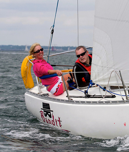 Ann Kirwan – seen here racing with co-owner Brian Cullen – may be noted for campaigning a Ruffian 23 called Bandit. But as Commodore of Dublin Bay Sailing Club, it is the Bandit skipper who will be clarifying the law-keeping for her many members