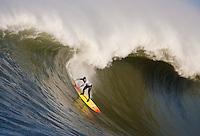 Darryl Flea Virostko. Mavericks Surf Contest in Half Moon Bay, California on February 13th, 2010.
