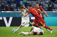 2nd July 2021; Allianz Arena, Munich, Germany; European Football Championships, Euro 2020 quarterfinals, Belgium versus Italy;  The goal scored by Nicolo Barella for 1-0
