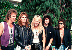 Bad English 1989 Jonathain Cain, John Waite, Ricky Phillips, Deen Castronovo and Neal Schon.© Chris Walter.