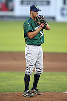 Jamestown Jammers pitcher Stephen Richards #32 during a game against the Batavia Muckdogs at Dwyer Stadium on June 27, 2011 in Batavia, New York.  Batavia defeated Jamestown 4-3.  (Mike Janes/Four Seam Images)
