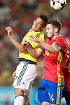 Spain's Saul Niguez (r) and Colombia's Carlos Bacca during international friendly match. June 7,2017.(ALTERPHOTOS/Acero)