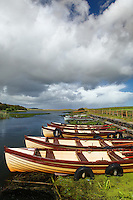 Fishing boats on New Lake, Dunfanaghy, County Donegal, Republic of Ireland