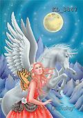 Interlitho, Lorella, FANTASY, paintings, unicorn, red elf, KL, KL3847,#fantasy# illustrations, pinturas