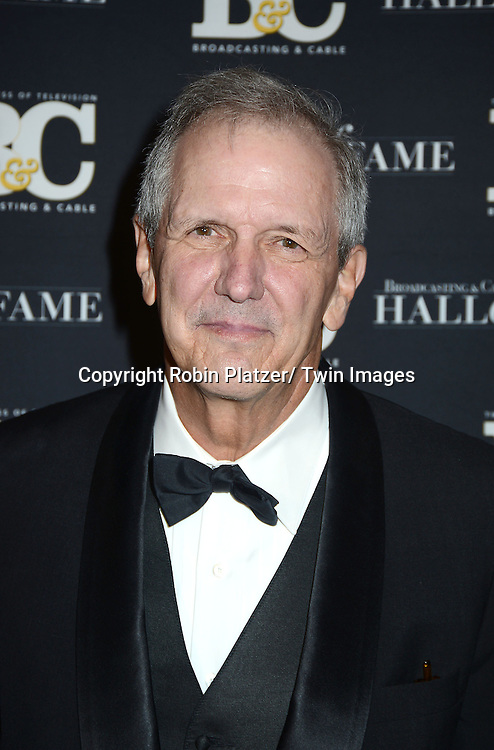 Charlie Gibson  of GMA attends  the Broadcasting and Cable Hall of Fame Awards .on December 17, 2012 at The Waldorf  Astoria Hotel in New York City.