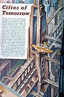 """Utopia:  """" Cities of Tomorrow""""   AMAZING STORIES, 1939.  Photo '84."""
