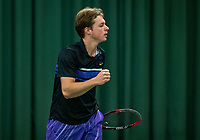 Wateringen, The Netherlands, December 1,  2019, De Rhijenhof , NOJK 12 and16 years, Final boys 16 years: Miko Wassermann (NED) jubilates his win<br /> Photo: www.tennisimages.com/Henk Koster