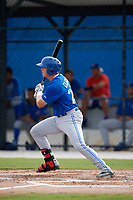 Toronto Blue Jays first baseman Kacy Clemens (23) at bat during an Instructional League game against the Philadelphia Phillies on October 7, 2017 at the Englebert Complex in Dunedin, Florida.  (Mike Janes/Four Seam Images)