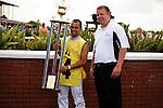 Jockeys foot race, won by John Delgado. Scenes from Calder Race Course, Summit of Speed day. Miami Gardens,  Florida. 07-06-2013