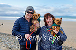 Taking their dogs Daisy and Cheeky for a walk on Banna beach on Saturday was James Quill and Helen Geary.