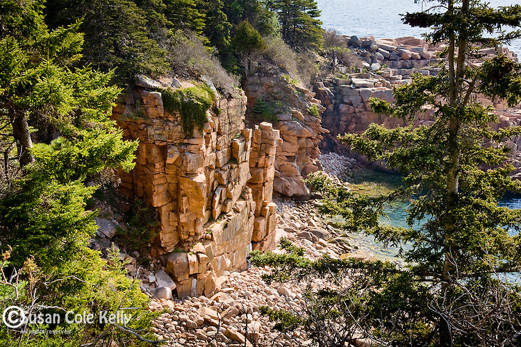 Monument Cove near Otter Point in Acadia National Park,  Downeast ME, USA