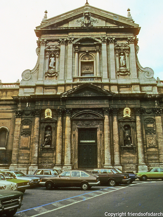 """Italy: Rome--Church of S. Susanna, 1603, in Piazza S. Bernardo. Carlo Maderna, 1556-1629.  """"One of the First Baroque Architects...""""  p. 32, AGE OF GRANDEUR.  Photo '82."""