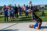 SAN JOSE, CA - JUNE 26: San Jose Earthquakes fans before a game between Los Angeles Galaxy and San Jose Earthquakes at PayPal Park on June 26, 2021 in San Jose, California.