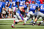 Southern Methodist Mustangs wide receiver Aaron Stafford (27) in action during the game between the TCU Horned Frogs and the SMU Mustangs at the Gerald J. Ford Stadium in Fort Worth, Texas.  TCU leads SMU 28 to 0 at half.