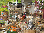Lori, LANDSCAPES, LANDSCHAFTEN, PAISAJES, paintings+++++Chickens On The Farm_5_72,USLS147,#l#, EVERYDAY ,puzzle,puzzles