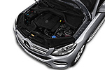 Car Stock 2018 Mercedes Benz GLE-Class GLE350 5 Door SUV Engine  high angle detail view