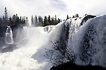 Sweden, Jaemtland, waterfall Ristafallet   Schweden, Jaemtland, Wasserfall Ristafallet
