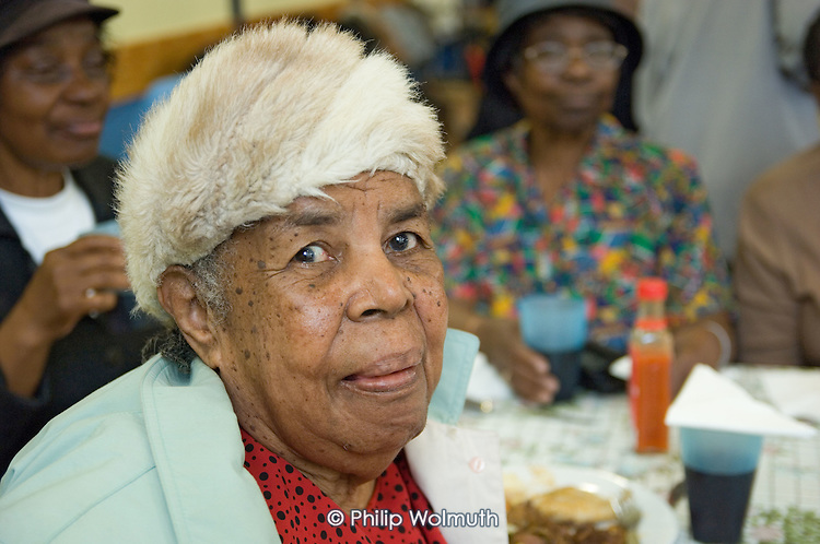 The Dutchpot lunch club for Afro-Caribbean elders, Maida Vale, London.