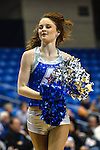 Texas-Arlington Mavericks cheerleaders in action during the game between the Houston Baptist Huskies and the Texas-Arlington Mavericks at the College Park Center arena in Arlington, Texas. UTA defeats Houston Baptist 81 to 47...