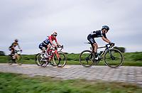 Franziska Koch (DEU/DSM)<br /> <br /> Inaugural Paris-Roubaix Femmes 2021 (1.WWT)<br /> One day race from Denain to Roubaix (FRA)(116.4km)<br /> <br /> ©kramon