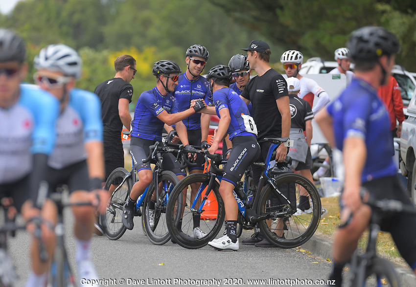 Black Spoke Pro Cycling Academy team. Day one of the NZ Cycle Classic UCI Oceania Tour in Wairarapa, New Zealand on Wednesday, 15 January 2020. Photo: Dave Lintott / lintottphoto.co.nz
