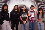 Rock band, Anthrax, pose for a portrait session
