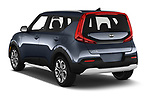 Car pictures of rear three quarter view of a 2020 KIA Soul  X-Line 5 Door Hatchback angular rear