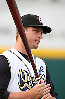 June13 2009: Ryan Brasier of the Rancho Cucamonga Quakes before game against the Bakersfield Blaze at The Epicenter in Rancho Cucamonga,CA.  Photo by Larry Goren/Four Seam Images