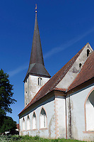 Kirche in Jaunpils, Lettland, Europa