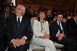 CESARE GERONZI, RENATA POLVERINI E GIANNI ALEMANNO<br /> PREMIO GUIDO CARLI - SECONDA EDIZIONE<br /> PALAZZO DI MONTECITORIO - SALA DELLA REGINA ROMA 2011