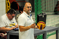 20200126 - GENT, BELGIUM : Referee Wim Van Hecke pictured during the waterpolo game Gentse KGZV and Eeklo MVZ , waterpolo game between Gentse KGZV and Eelko MVZ , at swimming pool Strop in Gent , saturday 1 th February 2020 . PHOTO SPORTPIX.BE | STIJN AUDOOREN