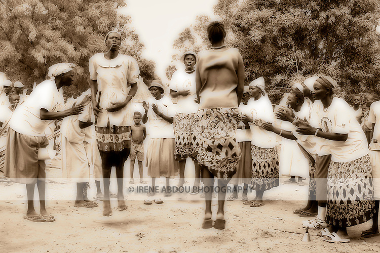 "In Rumbek, South Sudan, Dinka women perform a traditional ""jumping dance."""