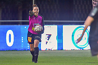 Aalst's goalkeeper Silke Baccarne (1) pictured during a female soccer game between  AA Gent Ladies and Eendracht Aalst on the second matchday of the 2020 - 2021 season of Belgian Scooore Womens SuperLeague , friday 4 th of september 2020  in Oostakker , Belgium . PHOTO SPORTPIX.BE | SPP | STIJN AUDOOREN